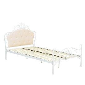 デザインベッド【KH-3090SD-WH】フレームのみ セミダブルベッド セミダブルサイズ SDサイズ 姫ベッド アンティーク 新生活