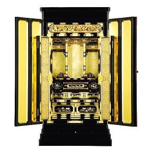 京型別台 【朧】 彫ランマ マキエ入り 本山 箔仕上 金仏壇