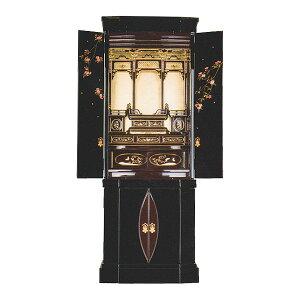 塗りモダン台付 【あゆみ】 黒塗 桜(金) 金具 モダン仏壇 現代のライフスタイルに合わせた新しい仏壇