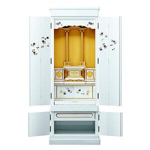 仏壇 金仏壇 塗りモダン 【ひいらぎ】 ホワイト 台付 15号