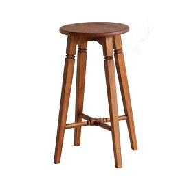 SOU ソウ ハイスツール 【SOS-3324BR】 チェア 椅子 イス いす 腰掛け 3脚セット 丸 木製 アンティーク