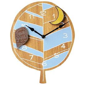 壁掛け時計 【Tree ツリー CL-9886】 掛時計 振り子時計 ウォールクロック 21cm幅 おしゃれ かわいい インテリア キッズ リビング 子供部屋 電池付き