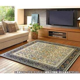 カーペット ラグ 【国産い草センターラグ(裏貼り) イデア NA/BK 261×261】日本製