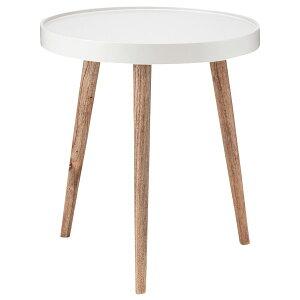 サイドテーブル 幅45 テーブル ナイトテーブル ソファテーブル 円形 丸 おしゃれ シンプル ナチュラル 白 ホワイト トレーテーブル大 NW-724