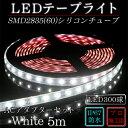 LEDテープ 防水 野外使用可能 シリコンチューブ SMD2835(60)昼白色(5500K)5m ACアダプターセット 間接照明 カウンタ照明 棚下照明 に最...