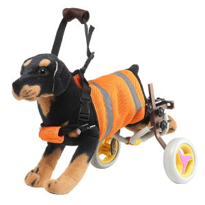 【あす楽】【送料無料】犬用 車いす ペット 歩行器 小型犬用 車椅子 ドックウォーカー 補助輪 (ブラウン)