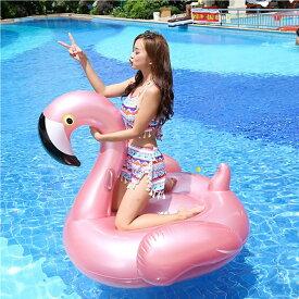 【今から夏の準備を!】フラミンゴ フロート/フラミンゴ型フロート 浮き輪 うきわ 浮輪 エアフロート インスタ SNS ピンク 大人 一人用 こども二人乗り ビックサイズ ビーチ 海 プール Instagram
