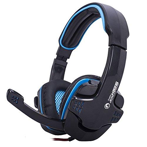 MARVO ゲーミング ヘッドセット ヘッドホン ゲーム用 PC スマホ マイク付 スカイプ Skype 3.5mm H8316