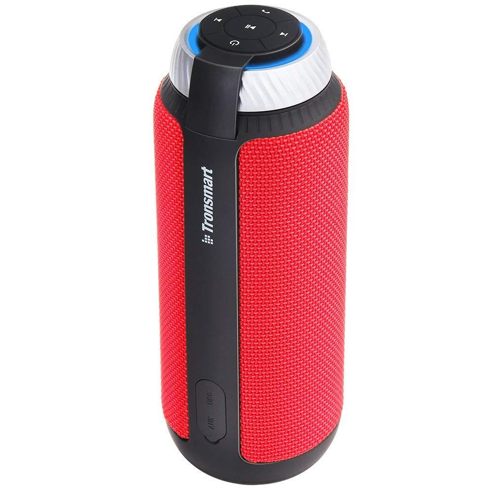 Tronsmart T6 Bluetooth スピーカー 高音質 25W出力 360°全方位サウンド 低音強化 15時間連続再生 内蔵マイク搭載 ポータブル ワイヤレス ブルートゥース スピーカー 大音量 重低音 ステレオ iPhon 【限定カラーRED】