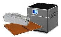 【3点セット】スピーカー内蔵小型プロジェクターPicoCube+ぴったり収納ポーチ+バインダースクリーン