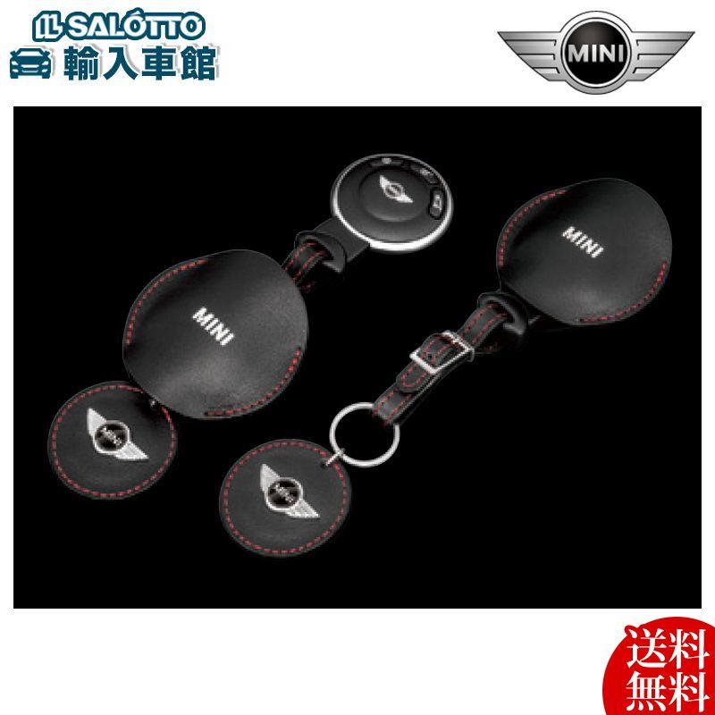 【 MINI 純正 】 レザー キーケース キーホルダー BMW ミニ( R50 R52 R53 R55 R56 R57 R58 R59 R60 R61 専用品) サイズ(cm):(キー装着時)約21(全長)素材:牛本革(厚材)