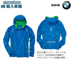 【 BMW 純正 クーポン対象 】BMW パーカー メンズ Mサイズ 日本Lサイズ ロイヤルブルー スポーツ アウター オーバー ジップアップパーカー
