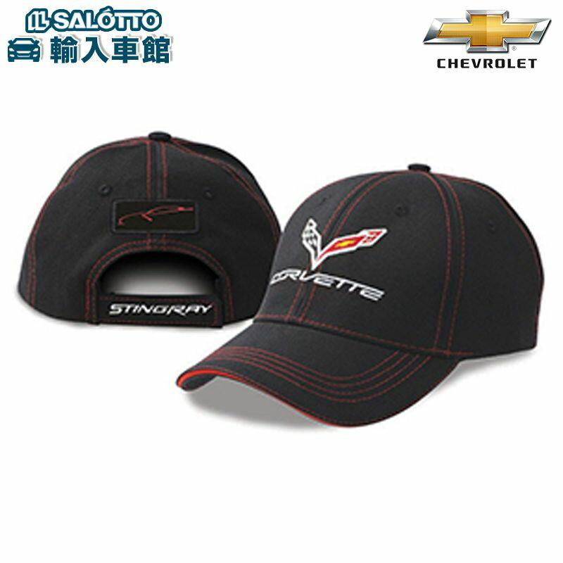 【 シボレー 純正 】 コルベット パッチ キャップフリーサイズ ブラック Corvette CHEVROLET