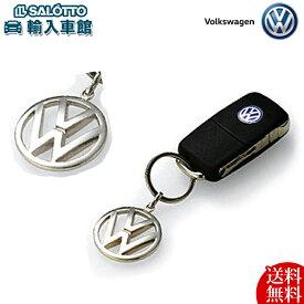 【 VW 純正 クーポン対象 】 ロゴ キーホルダー クローム フォルクス ワーゲン キーリング キータグ キー 鍵 Volkswagen original design option