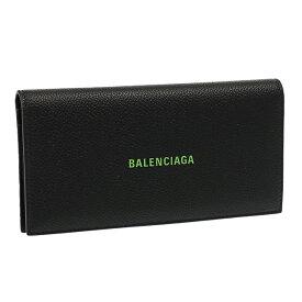 """【2ウィークピックアップ+5倍】バレンシアガ/BALENCIAGA""""CASH VERT LONG WALLET・キャッシュヴェールロングウォレット""""ロゴ入り2つ折り長財布(ブラック×グリーン)594692 1IZI3 1063/BLACK*L FLUO GREEN"""
