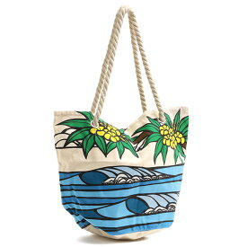 "【10%OFFクーポン】ヘザーブラウン/HEATHER BROWN""CANVAS TOTES DAYDREAM SURF・デイドリームサーフ""ロープハンドル・プリントキャンバストートバッグ・ビーチバッグHB0080MB/DAYDREAM SURF"