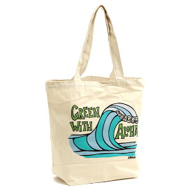 "【10%OFFクーポン】ヘザーブラウン/HEATHER BROWN""CANVAS TOTES GREEN WITH ALOHA ・グリーンウィズアロハ""プリントキャンバストートバッグHB0227MB/GREEN WITH ALOHA"