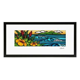 """【フレーム付き&ポイント10倍】ヘザーブラウン/HEATHER BROWN""""ART PRINT W50.8×H*25.4cm・MYSTIC HAWAII・アートプリント・ミスティックハワイ""""長方形横(20*10)・サイン入り・絵画HB9500P/MYSTIC HAWAII"""