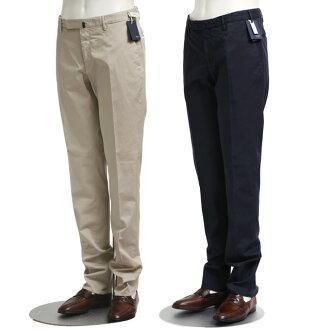 "INCOTEX SLACKS/鹦鹉纺绩品裤子""SLIM FIT""5口袋棉布伸展裤子(深蓝·浅驼色)1AGW30 90098 935.416"