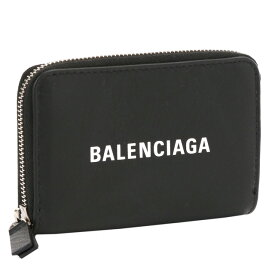 """【クーポンで10%OFF】バレンシアガ/BALENCIAGA""""EVERYDAY LOGO CARD COIN POUCH・エブリデイロゴ""""カード&コインポーチ・ロゴ入り・コインケース(ブラック×ホワイト)505049 DLQHN 1060/NOIR*BLANC"""
