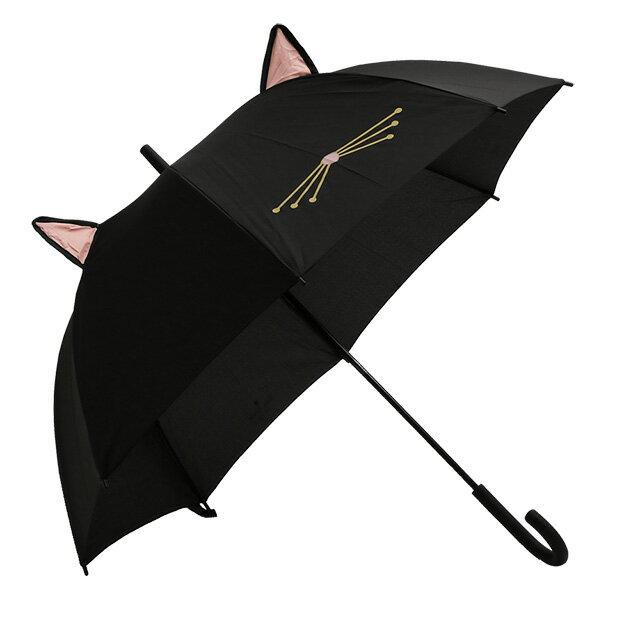 """【クーポンで10%OFF】ケイトスペード/KATE SPADE""""CAT UMBRELLA WITH EARS・キャットアンブレラウィズイヤー""""猫・耳デザイン・ロゴ入り長傘・雨傘(ブラック)188330"""