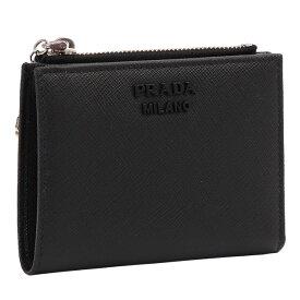 【10%OFFクーポン】プラダ/PRADAラビットチャーム&IDパスケース付き2つ折り財布・小財布(ブラック)1ML023 SAFFIANO SMALATO(2CHR)NERO