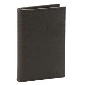 【10%OFFクーポン】プラダ/PRADA型押しロゴ&型押しレザー・カードケース(ブラック)2MC101 SAFFIANO(053)NERO