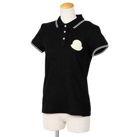 モンクレール/MONCLERデカロゴデザイン・レディース半袖ポロシャツ(ブラック)8A704 00 V8003 999・BLACK