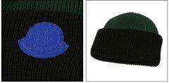 モンクレール1952/MONCLER1952ロゴ付きウールニット帽・ニットキャップ(ブラック)D29921408969AK999/BLACK