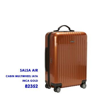 "RIMOWA 和 rimowa 小屋多轮""莎莎空气,超轻""四个轮子的行李箱 (印加金) 莎莎空气印加金 823.52"