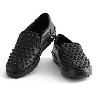 有VALENTINO GARAVANI/barenchinogarabanisutazzu的鞋·皮革运动鞋·懒汉鞋(黑色×黑色)JY0S0817VDR 0NO/BLACK*BLACK