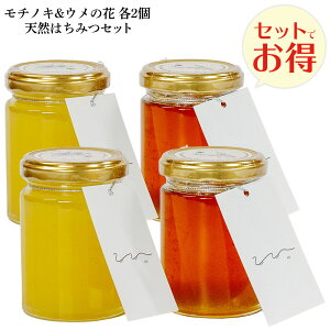 送料無料 UU はちみつ食べ比べ各2個セット モチノキ ウメノ花 ニホンミツバチ 蜂蜜 濃厚 天然はちみつ 国産 非加熱 希少な日本蜜蜂の 純粋ハチミツ 日本製 ユーユー