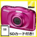【送料無料】ニコン Nikon デジカメ クールピクス 防水 耐衝撃 COOLPIX W100 ピンク【楽ギフ_包装】【***特別価格***】