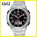 【送料無料】シチズンCITIZENQ&Q電波ソーラー腕時計MD02-205【楽ギフ_包装】