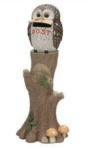 4/10までポイント4倍【送料無料】【メーカー直送・代引き不可】SETOCRAFT・セトクラフト 幸運を呼ぶ鳥フクロウ スタンドポスト(オウル) SR-2103-3500【楽ギフ_包装】【***特別価格***】