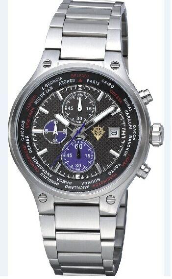 9/30までポイント2倍【送料無料】RHYTHM・リズム時計 GUNDAM・ガンダム ZEONIC 腕時計 限定モデル 黒い三連星モデル 9ZR002MG02【楽ギフ_包装】【***特別価格***】