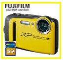今ならSDカード8GB差し上げます【送料無料】FUJIFILM・フジフィルム 20m防水・1.75m耐衝撃構造デジカメ FinePix XP120 イエロー【楽...
