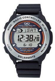 デジタル見やすい電波時計プレゼントにおすすめ【送料無料】CITIZEN・シチズン時計 Q&Q 電波ソーラー腕時計 MHS7-300【楽ギフ_包装】【***特別価格***】