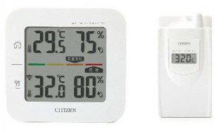 【送料無料】CITIZEN・シチズン コードレス温湿度計 (簡易熱中症指標表示付き)THD501【楽ギフ_包装】