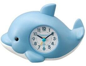 【送料無料】RHYTHM・リズム時計 プレゼントに最適です イルカの声 目覚まし時計 起きてイルカ?SR 4SE553SR04【楽ギフ_包装】【***特別価格***】