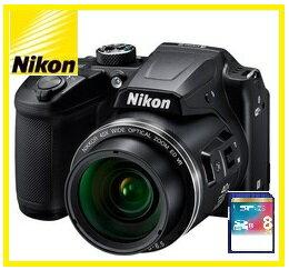 今ならSDカード8GB・カメラケース差し上げます【送料無料】Nikon・ニコン チルト式液晶光学40倍ズームデジカメ COOLPIX B500 ブラック【楽ギフ_包装】【***特別価格***】