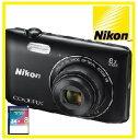 【今ならSDHCカード8GB付き】Nikon・ニコン デジカメ Wi-Fi内蔵光学8倍ズーム クールピクス COOLPIX A300 BK ブラック【楽ギフ_包装】【***特別価格***】
