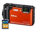 【送料無料】Nicon・ニコン GPS搭載 水深30M防水デジカメ COOLPIX W300 オレンジ【***特別価格***】【楽ギフ_包装】