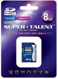 SUPER TALENT SDHCカード8GBクラス10 ST08SDC10
