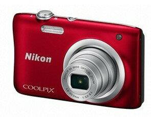 【ラッピング無料】Nicon・ニコン デジカメ COOLPIX A100 レッド【COOLPIX S2900後継機】【楽ギフ_包装】【***特別価格***】