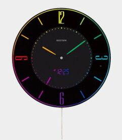 【送料無料】RHYTHM・リズム時計 8RZ197SR02 見やすい365色LEDカラーが切り替わる掛置兼用電波時計 デジタル LED イロリア エー Iroria A 8RZ197SR02【楽ギフ_包装】