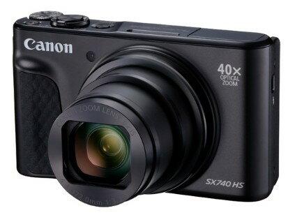 今ならSDカード8GB差し上げます!【送料無料】Canon・キヤノン 光学40倍ズームチルト液晶デジカメ パワーショット PowerShot SX740 HS ブラック【楽ギフ_包装】【***特別価格***】