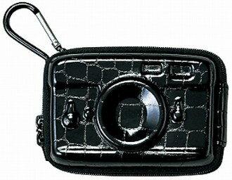 カラビナ付き セトクラフト デジタルカメラハードケース SF-2039 ハードクロコブラック【楽ギフ_包装】
