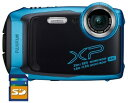 SDHCカード8GB付き【送料無料】FUJIFILM・フジフィルム FinePix XP140 スカイブルー 25m防水・1.8m耐衝撃構造デジカメ…