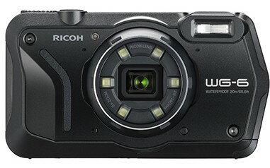 4月19日発売予定【送料無料】リコー RICOH WG-6 ブラック 防水 耐衝撃 防塵 耐寒 アウトドア GPS搭載 デジカメ CALSモード WG-6BK【***特別価格***】